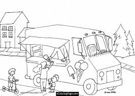 ice cream truck coloring pages.  Pages Ice Cream Truck Coloring Page For Ice Cream Truck Coloring Pages A