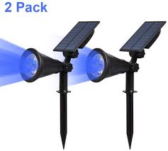 Led Solar Garden Spot Lights T Sun Solar Powered Spotlights Led Outdoor Wall Lights