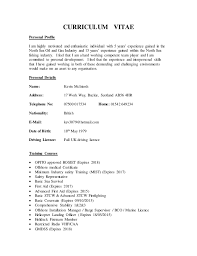 Gmdss Radio Operator Sample Resume Interesting CV Kevin McIntosh