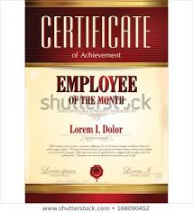 Employee Of The Month Template With Photo Certificate Template Employee Month Stock Vector Royalty Free