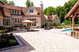 Large Paver Patio and Pool Moscarino Outdoor Creations