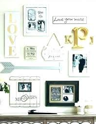 wall art letters letter decor for decorative metal initial hanging