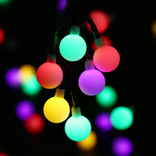 decorative string lighting. Globe Solar Powered Christmas Lights 21ft 50LED Multi Color Ball String Decorative For Indoor/Outdoor,Garden,Party-in Lamps From Lighting