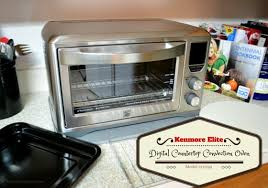 convenience with the kenmore elite digital countertop convection oven
