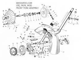 vespa parts diagrams beedspeed kickstart gear cluster p200 · lamps � brake switch � ign switch p2