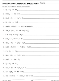 writing chemical formulas and balancing equations worksheet worksheets equation word problems by hall practice