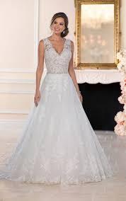 wedding dresses lace a line wedding dress with keyhole back
