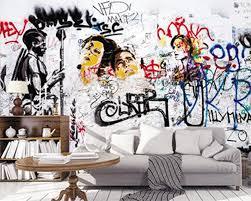 graffiti art brick wallpaper 3d wall
