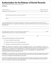 Dental Records Release Form. Personal Medical Records Forms ...
