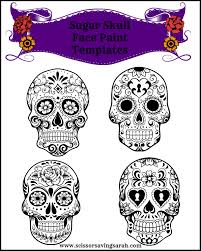 sugar skull face paint templates use any face paint kit with a face paint
