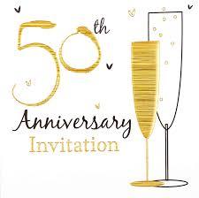 50th Anniversary Party Invitations Amazon Com Simon Elvin 50th Golden Wedding Anniversary