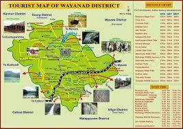 wayanad tourism map  tourist places in wayanad  tourist