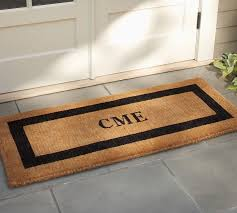 outdoor front door matsMonogrammed Doormat  Pottery Barn
