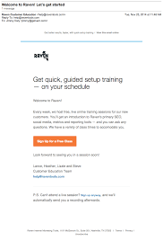 onboarding emails examples ideas and best practices raven getting started email