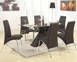 7 piece black dining room set. New Ideas Black Modern Dining Room Sets Ophelia Piece Set With Rectangular Glass 7
