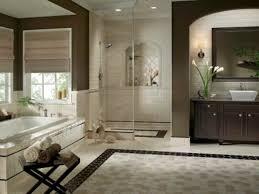 elegant bathroom tile ideas. Elegant Doorless Shower Mixed With Nice Brown Powder Room In Cool Honeycomb Bathroom Floor Tile Style Ideas T