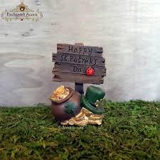 fairy garden ornaments ireland. happy st. patrick\u0027s days fairy garden sign - miniature irish celtic pot of gold decoration ornaments ireland r