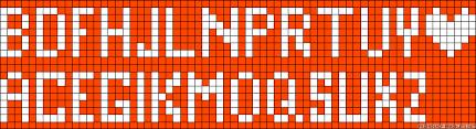 Friendship Bracelet Alphabet Patterns