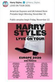 Harry Styles L❤️VE ON TOUR 2020 ...