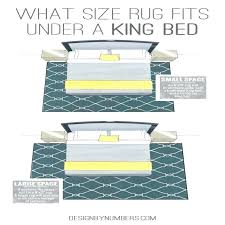8x10 area rug under king bed s