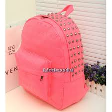 image is loading skull backpack neon stud rucksack faux leather school