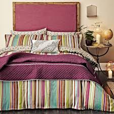 luxury striped bedding  ila cotton sateen bed linen at bedeck