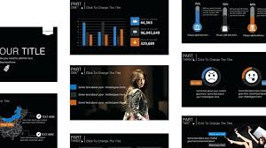 Dark Powerpoint Templates Self Introduction Presentation Template Dark Powerpoint Templates