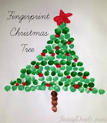 Fingerprint Christmas Tree Art