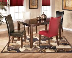 Red Dining Room Chairs Chair Pads For Dining Room Table Red Line And Pretty Glass As Ebay