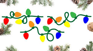Get free shipping on qualified christmas string lights or buy online pick up in store today in the holiday decorations department. Seamless Christmas Light Strands Svg Cut Files Kelly Lollar Designs