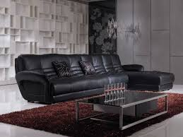 black leather living room furniture. Living Room:Elegant Black Leather Sofa Room Furniture Interior Design With Rectangle Glass Top