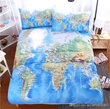 world map duvet cover world map bedding set printed blue bed cover twill cozy home textiles multi sizes double duvet covers comforters sets from