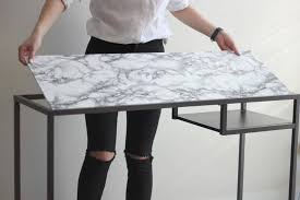 furniture contact paper. Diy-marble-contact-paper-table-08 Furniture Contact Paper A