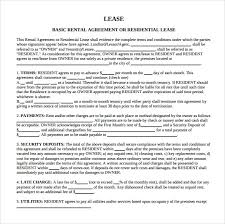 lease abstract template blank lease template