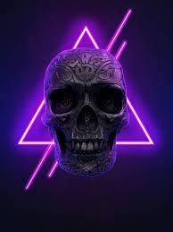Neon Skull iPhone Wallpaper ...