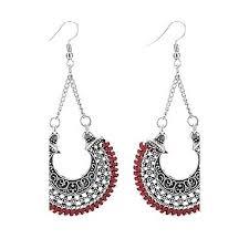 dark blue chandelier earrings chandelier drop earrings vintage fashion dark blue red light chandelier ceiling fan