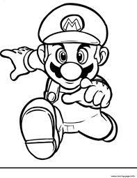 Print Running Mario Bros S2394 Coloring