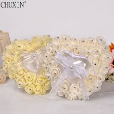 Decorative Ring Boxes HIGH QUALITY Heart alike flower rose pearl decorative RING BOX 6