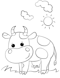 Small Picture Cute Cartoon Cow coloring page Free Printable Coloring Pages