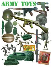 Vintage toy army set