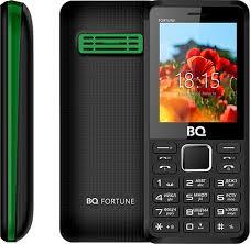 Мобильный <b>телефон BQ 2436</b> Fortune P, черный, зеленый