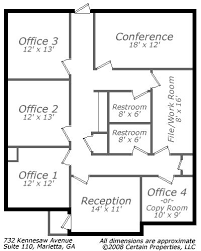 small office floor plan call 678 318 1970 for more information bpgm law office