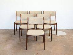 6 mid century dining chairs in rosewood by skovby