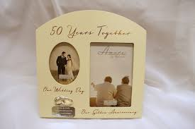 anniversary golden gifts personalised th photo fram simply simple unusual wedding gift fantastic for couples ideas