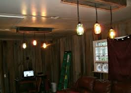 two mason jar light fixtures installed and working yea