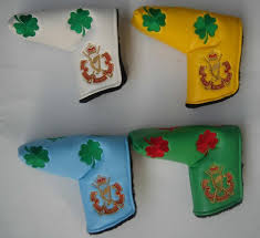 china custom logo embroidery synthetic leather golf putter cover china golf putter cover golf headcover