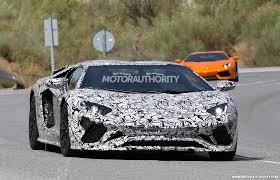 lamborghini car 2018. 2018 lamborghini aventador roadster spy shots car