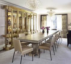 formal dining room decor ideas. Dining Room Decor Ideas - Extra Long Table With Double Crystal Chandelier, Gold Accents.   Wesley Moon NYC Apartment Formal L