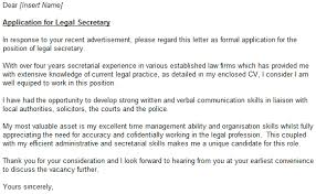 Example Cover Letter For Legal Assistant Job Leading Professional