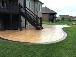 concrete slab patio. Backyard Concrete Slab Ideas For Patio Floor With .